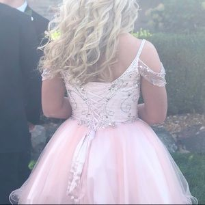 light pink homecoming dress
